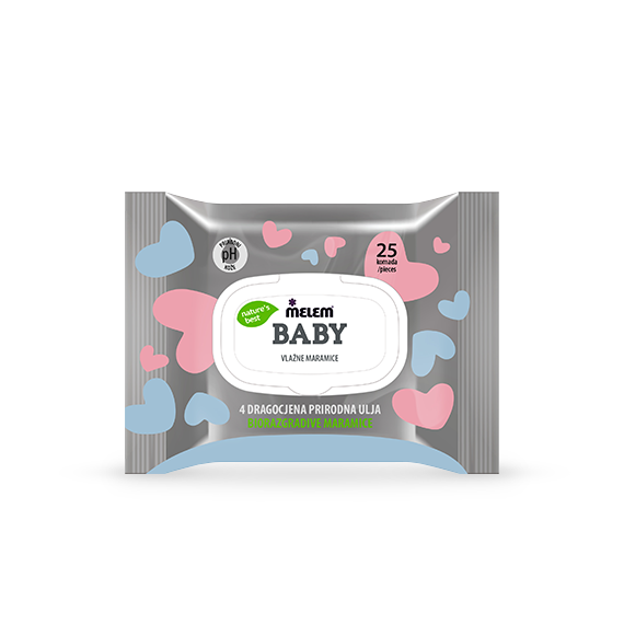 Melem Baby Wet Wipes 25 pcs